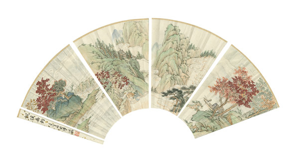 Traditional drawing on Chinese fan