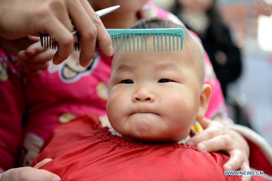 Hair Cut On Dragon Heads Raising Day
