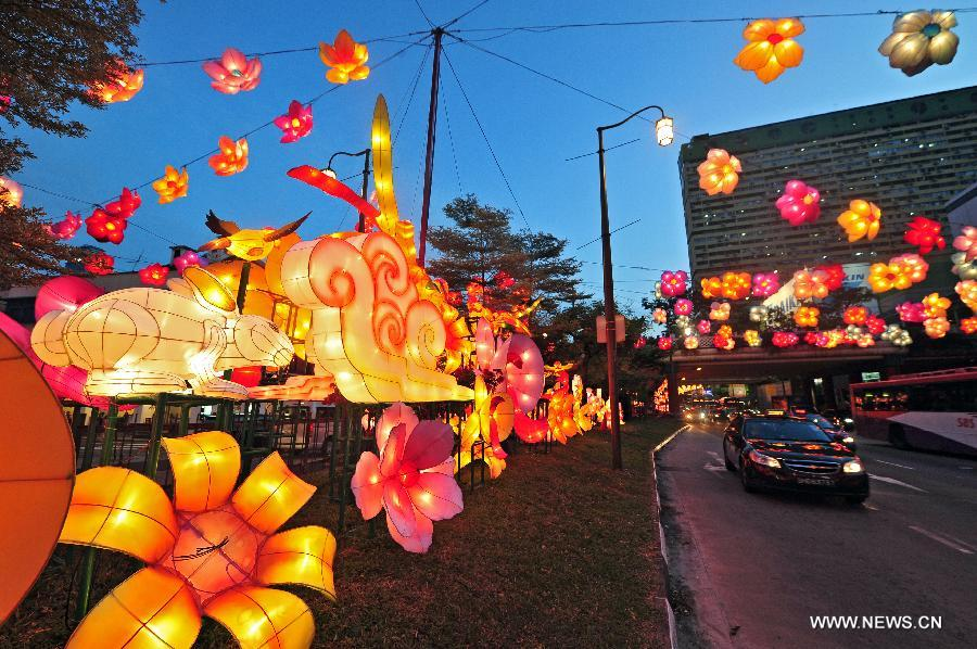 Singapore S Chinatown Decorated For Upcoming Mid Autumn Festival